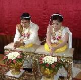 Couple getting married in Thailand